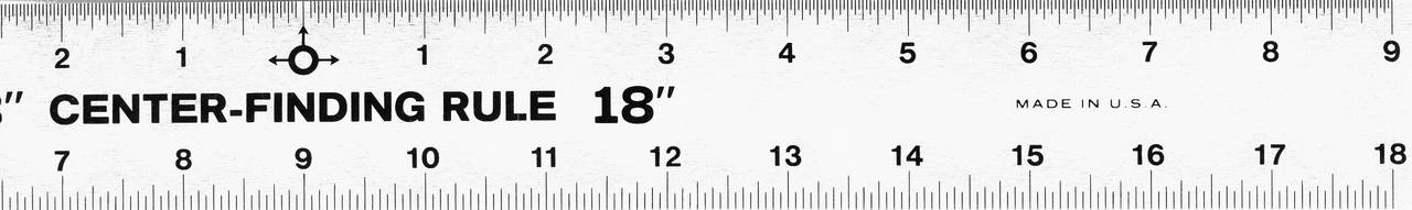 "18"" CENTER FINDING RULER STAINLESS STEEL, Gaebel"