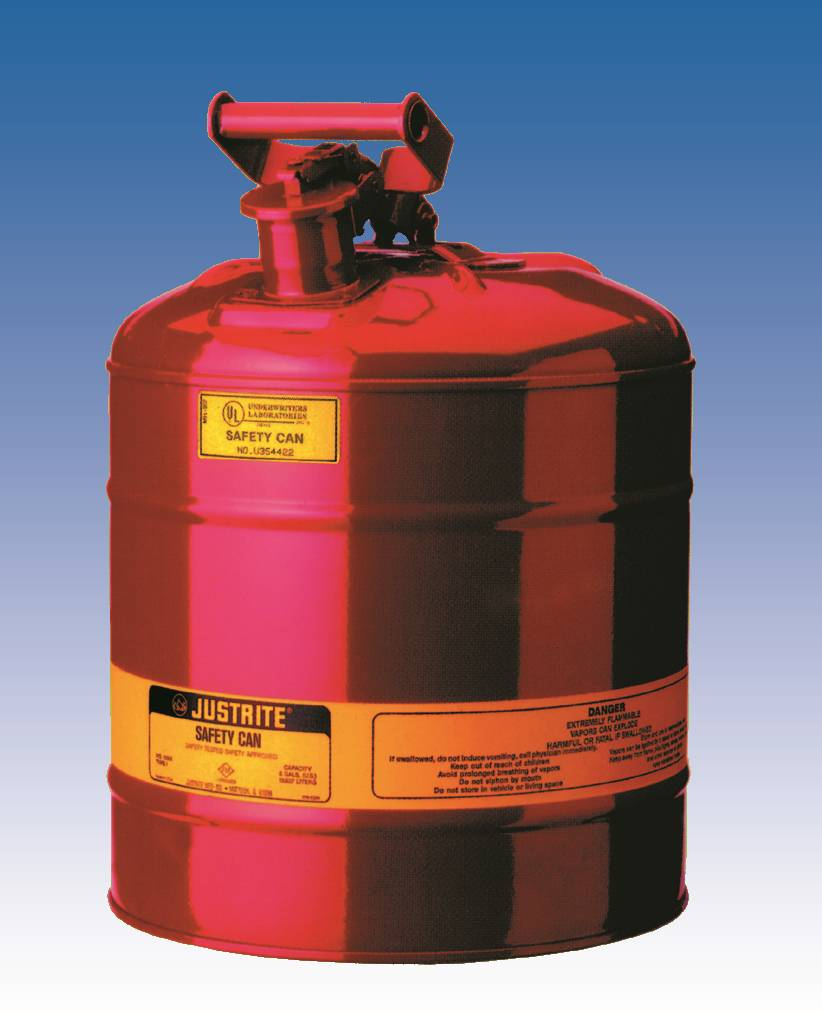 JUSTRITE 1 Gal. METAL SAFETY CAN - TYPE 1 IMPROVED