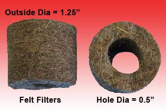 FELT VACUUM FILTER For AB Dick 360, 9800 Series Martin Yale