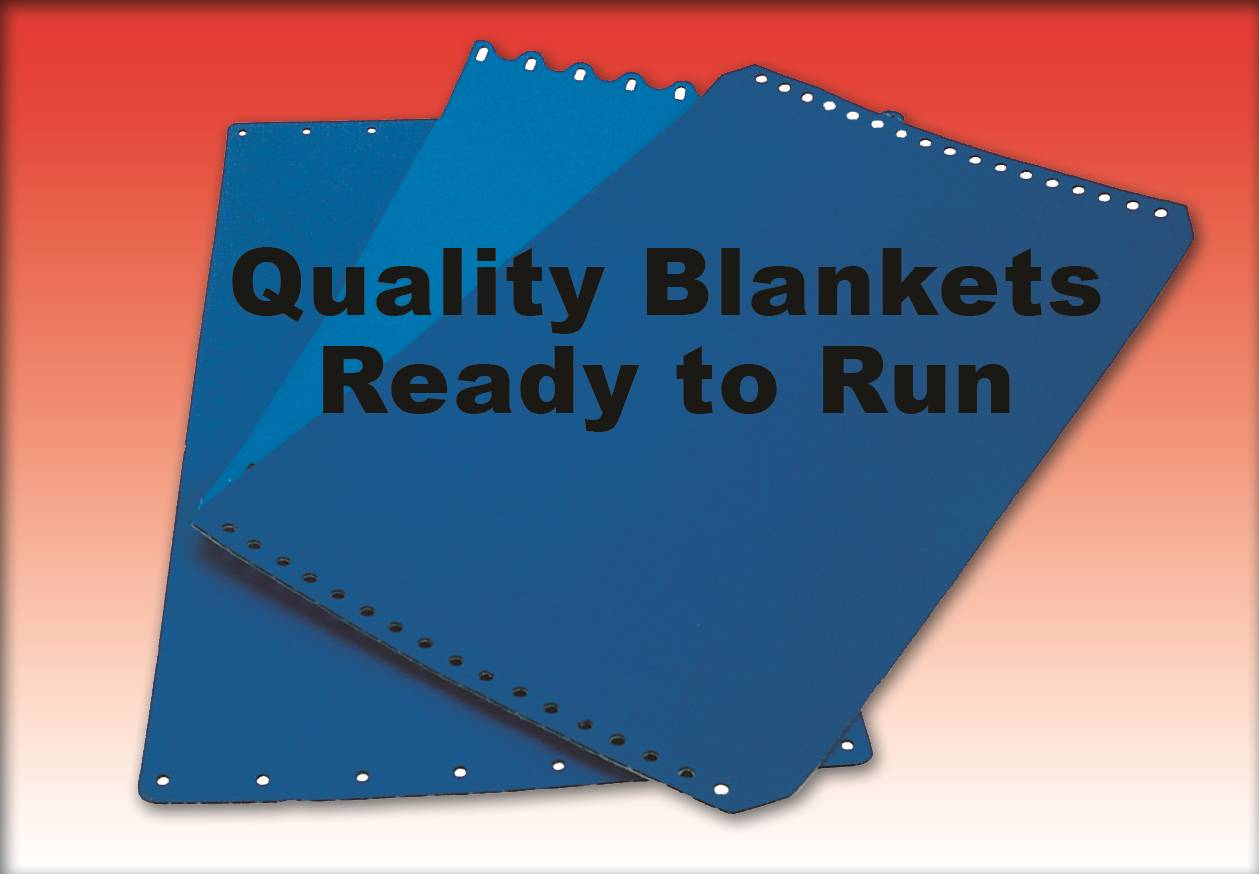 "BLANKET- AB DICK 360 3-PLY 18-1/2"" x 11"" PUNCHED"