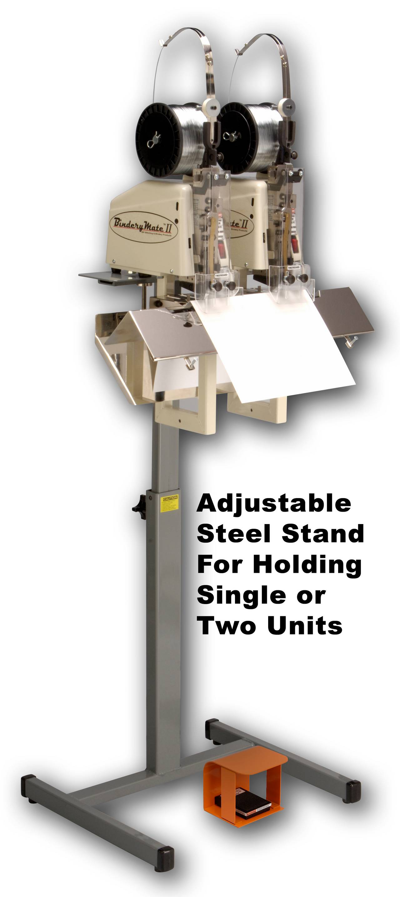 BINDERYMATE II STAND For Single or Dual Unit Use