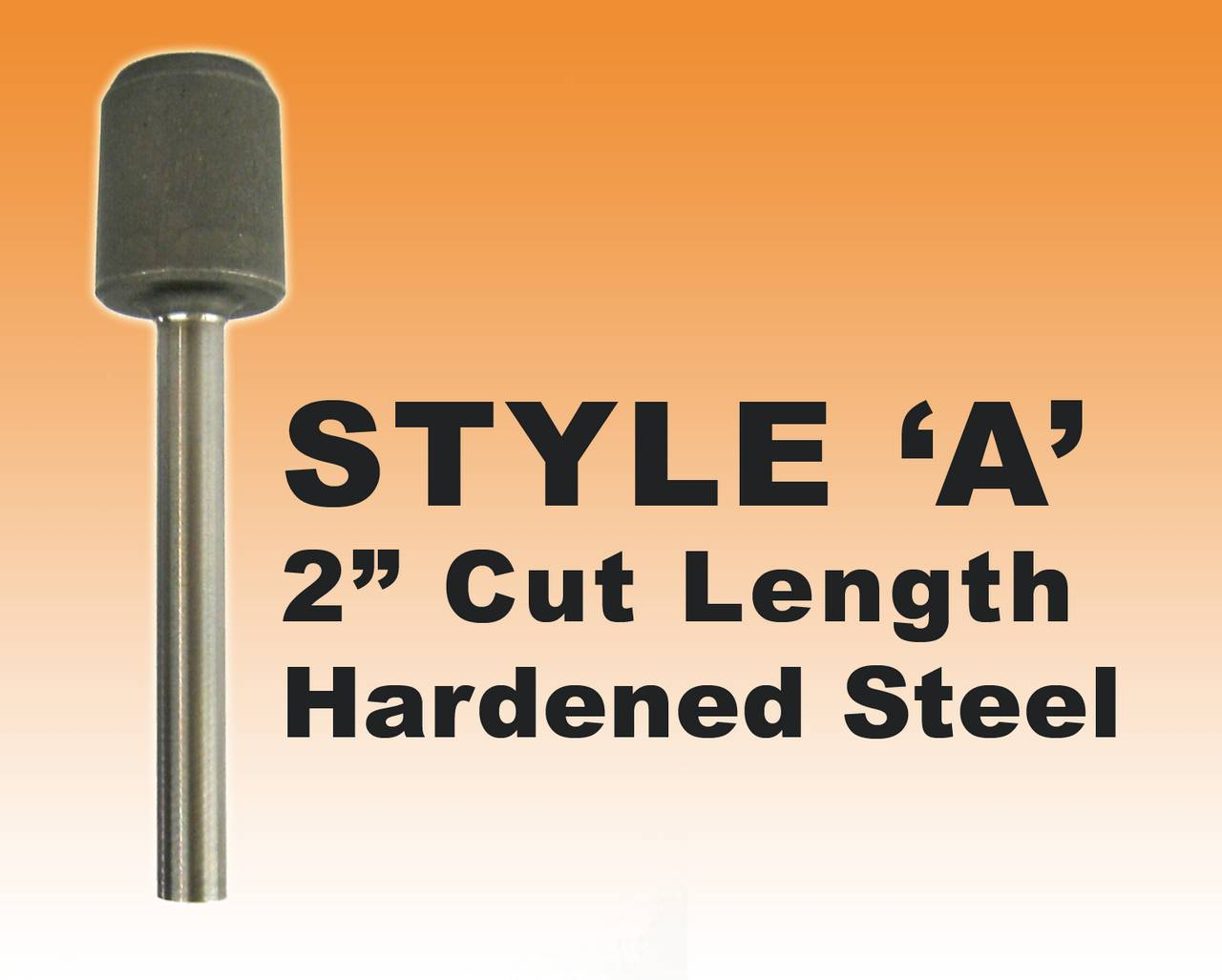 "DRILL BIT- STYLE A - 1/4"" Premium Hardened Steel 2"" Cut Length"