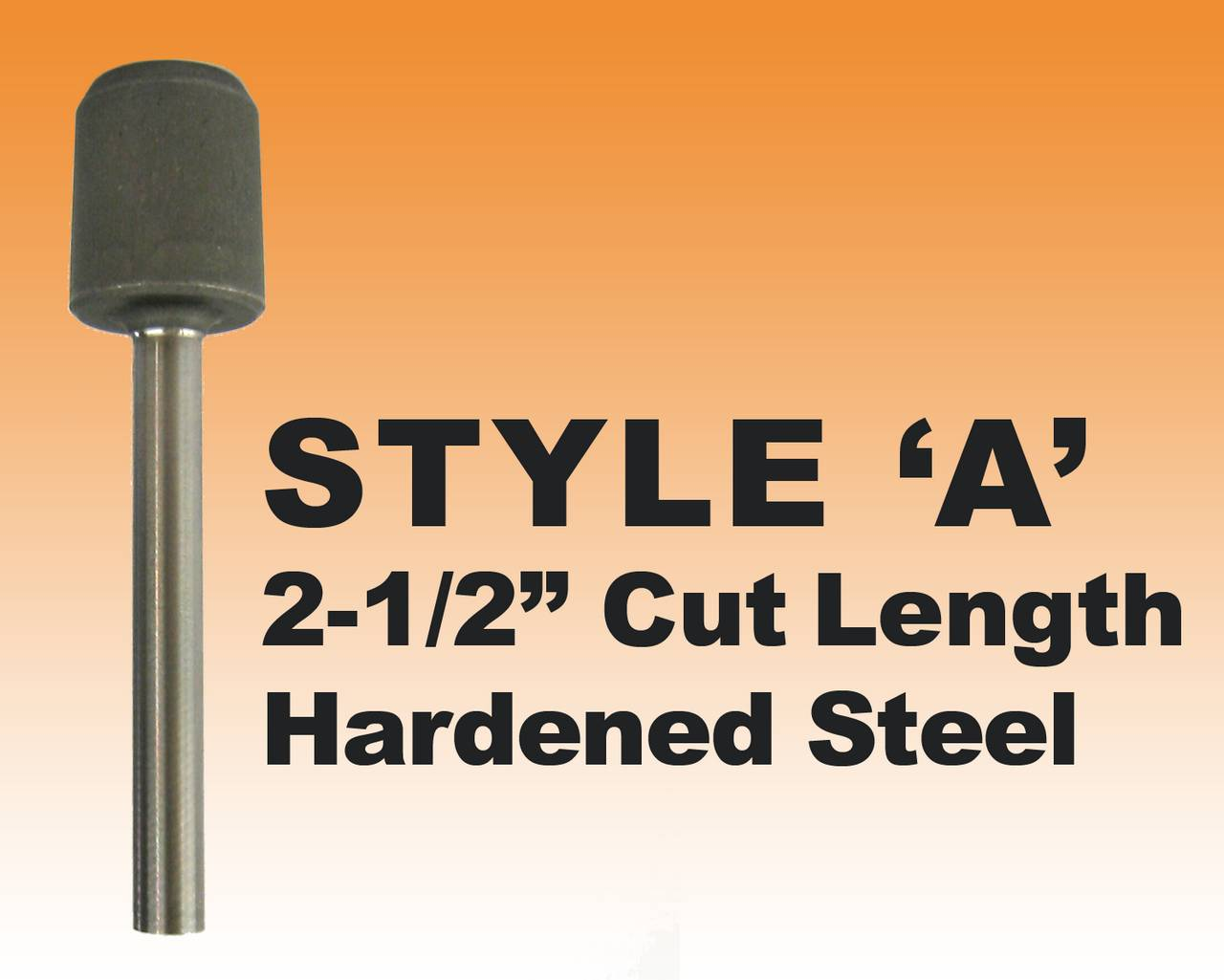 "DRILL BIT- STYLE A - 1/4"" Premium Hardened Steel 2-1/2"" Cut Length"