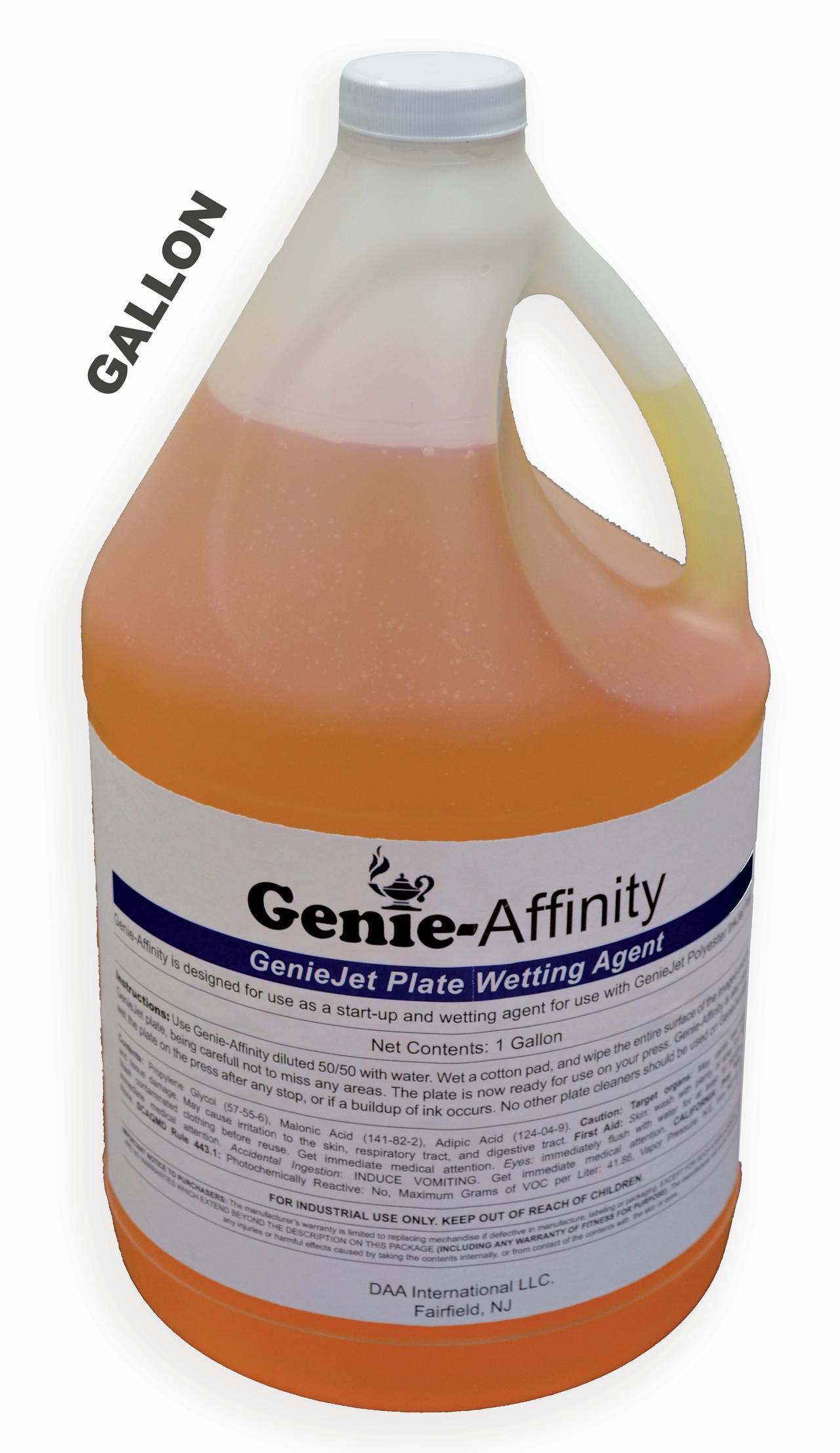 GENIEJET AFFINITY - 1 Gal PREP & FOUNTAIN SOLUTION For Plates using Epson K Ink