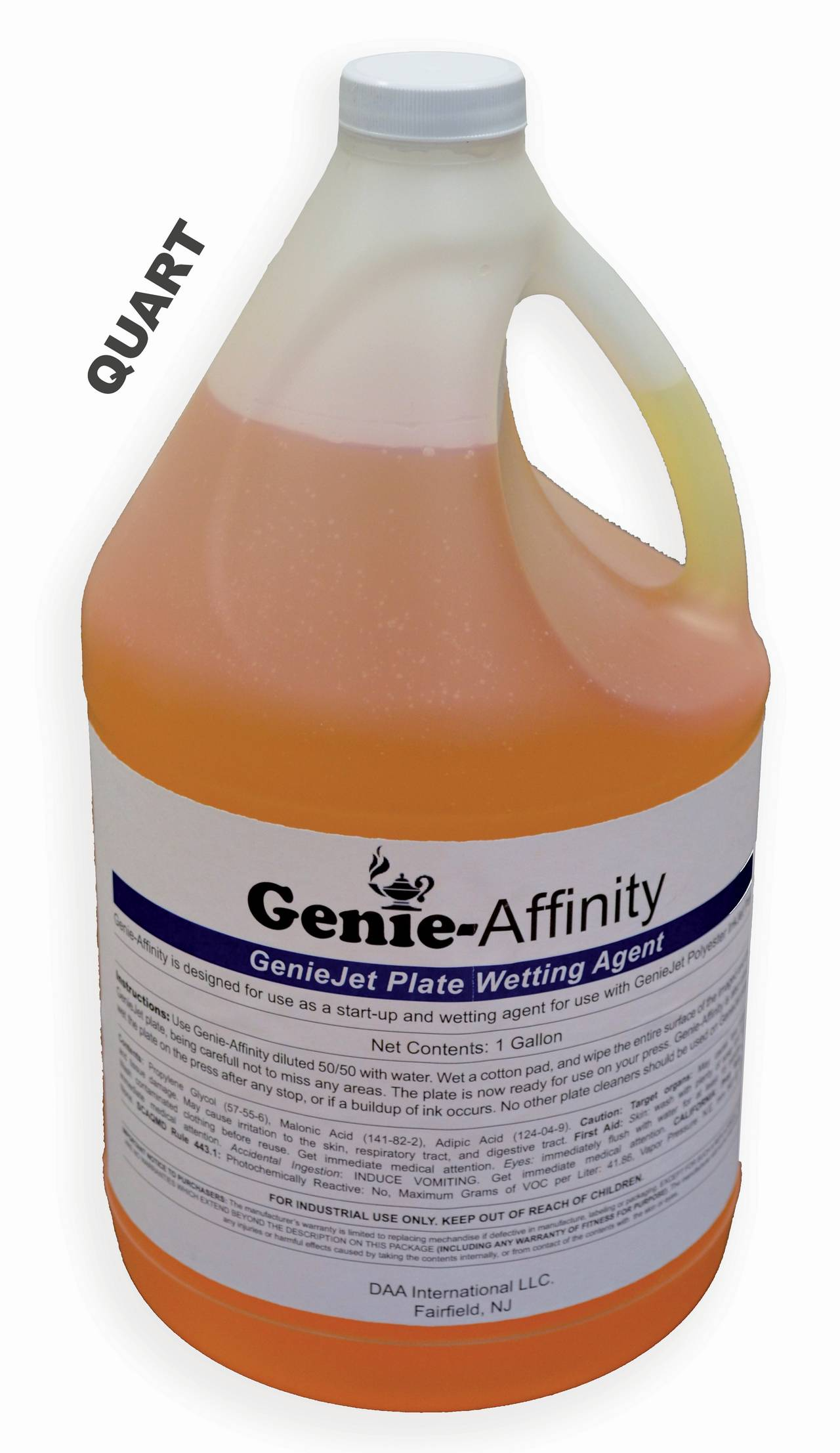 GENIEJET AFFINITY - 1 Qt PREP & FOUNTAIN SOLUTION For Plates using Epson K Ink
