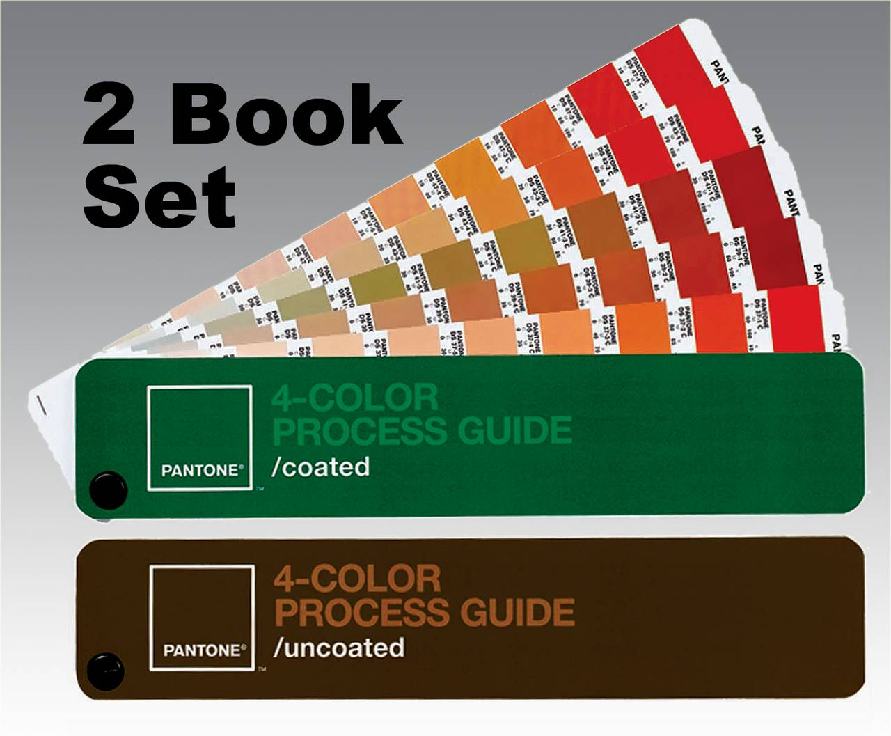 PANTONE CMYK PROCESS GUIDE 2 Book Set, Coated/Uncoated