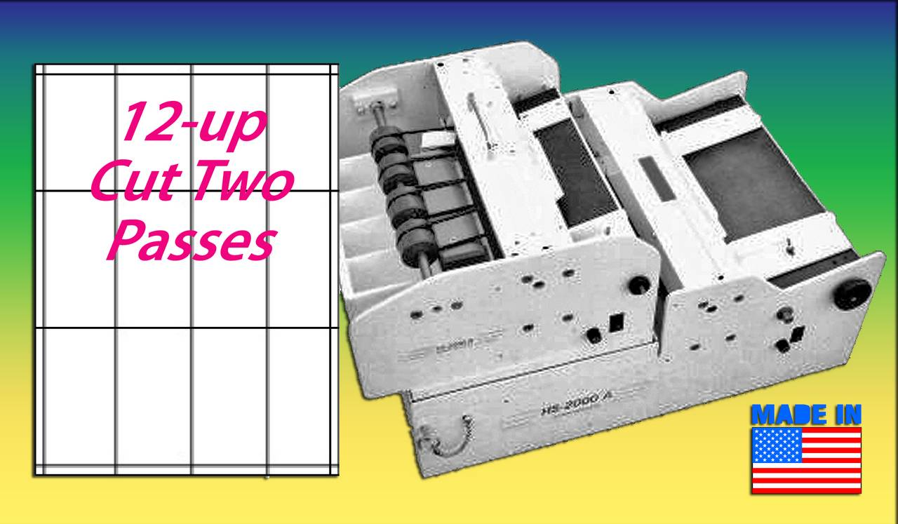 BUSINESS CARD SLITTER Automatic Feed, 12-UP