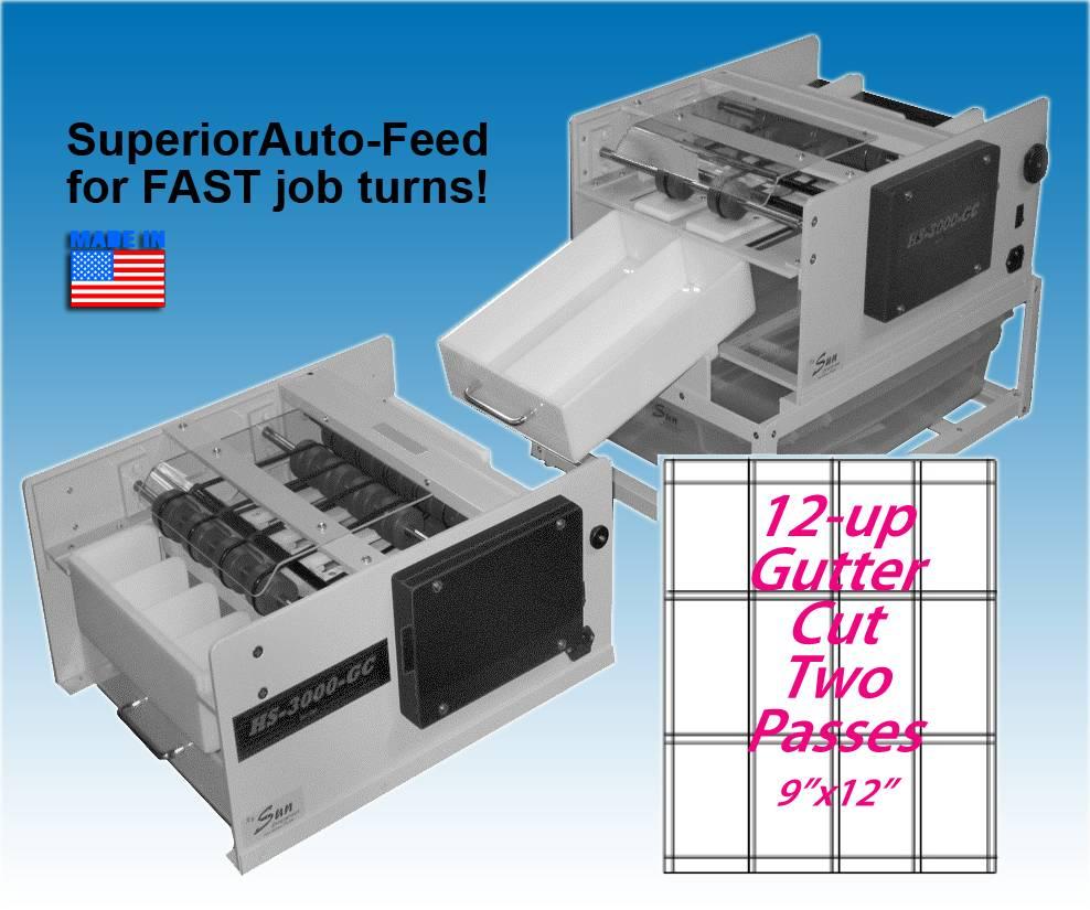 BUSINESS CARD SLITTER Automatic, 12-UP GUTTER CUT [HS-3000-GC 12-UP ...