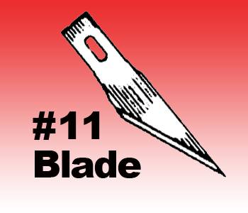NO 11 KNIFE BLADES QTY:100