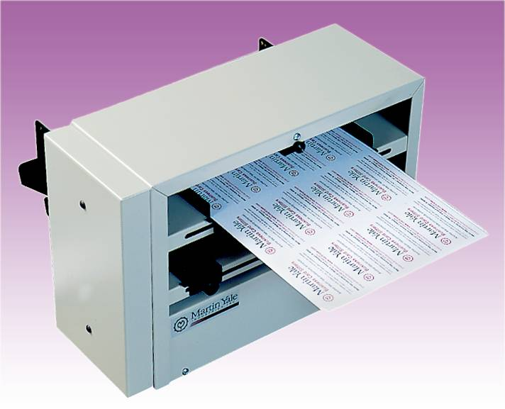 BUSINESS CARD SLITTER 12-UP with Scoring and Perforating