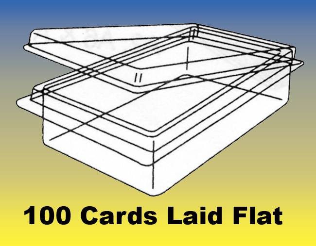 "BUSINESS CARD BOXES - QTY:50 Clear Plastic, Holds 100 2"" W x 1"" H x 3-1/2"" D"