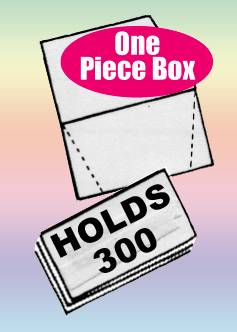 "FOLDING BUSINESS CARD BOXES White, Holds 300 - QTY:200 4-1/4"" x 3-3/4"" x 2-1/16"""