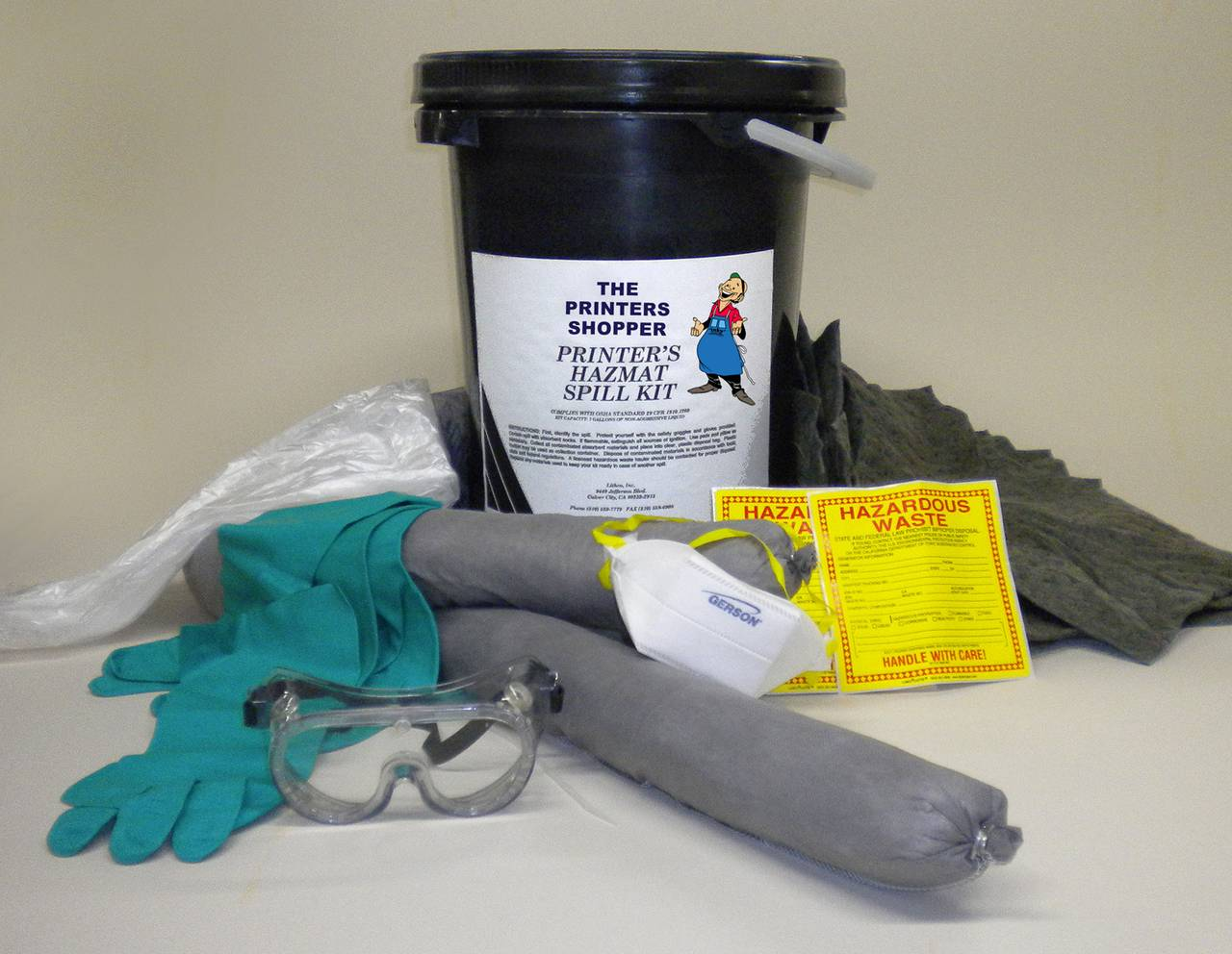 HAZMAT SPILL KIT, 7-GALLON For Non-Aggressive Materials