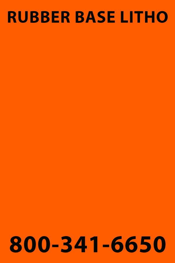 PANTONE 021 BRIGHT ORANGE 1 lb, Rubber Base Ink, Litho