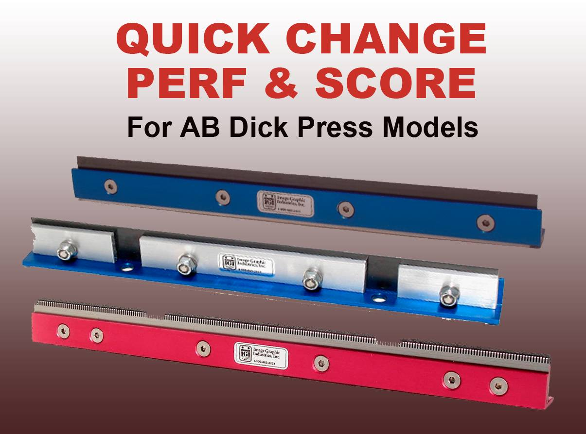QUICK CHANGE PERF & SCORE For All AB Dick 9800 Series