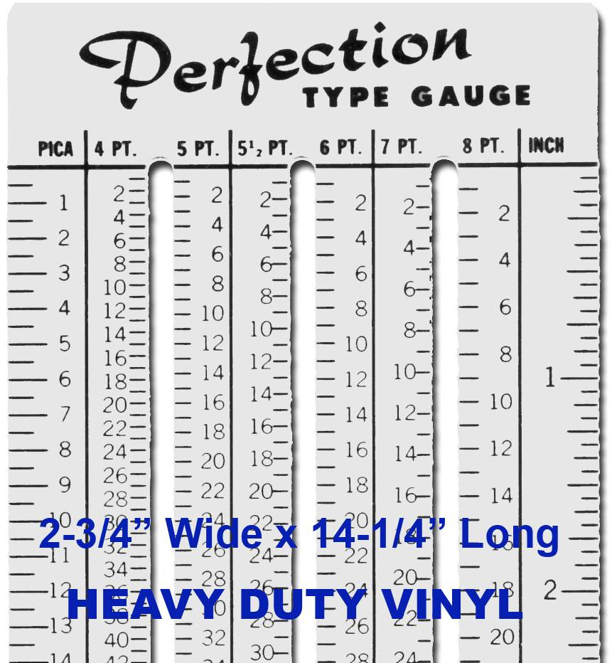 RULER - POINT/PICA SCALE QTY:3 SPECIAL: 12 & up $1.50/Set