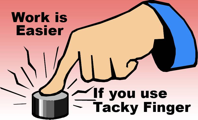 TACKY FINGER, 1.75 OZ. Fingertip Moistener