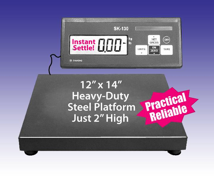 "DIGITAL SHIPPING SCALE 120LB 0.5 lb Increments 1"" Display 12"" x 14"" Steel Platform"