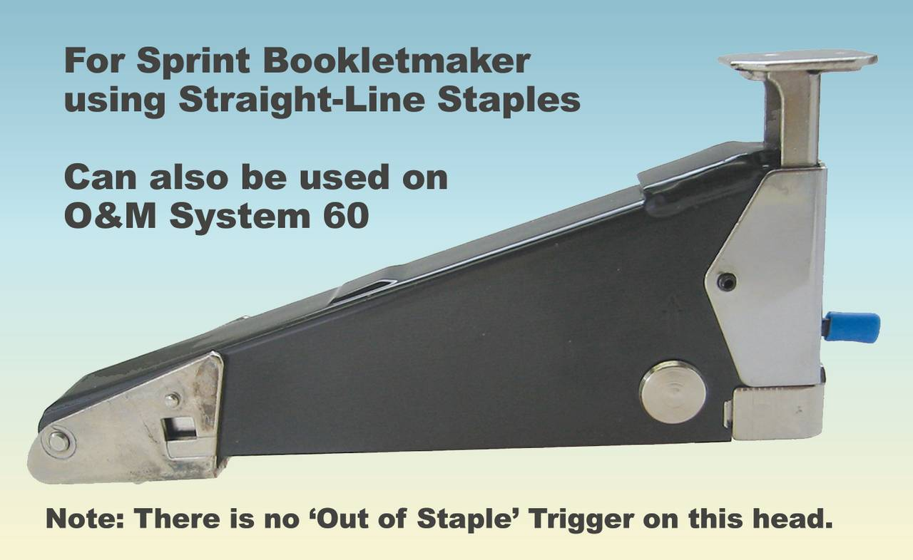 STAPLER HEAD, SPRINT (STRT) Replacement Unit, Straight Also for O&M System 60