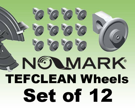 'NO-MARK' TEFCLEAN WHEELS Set of 12, Fully Adjustable