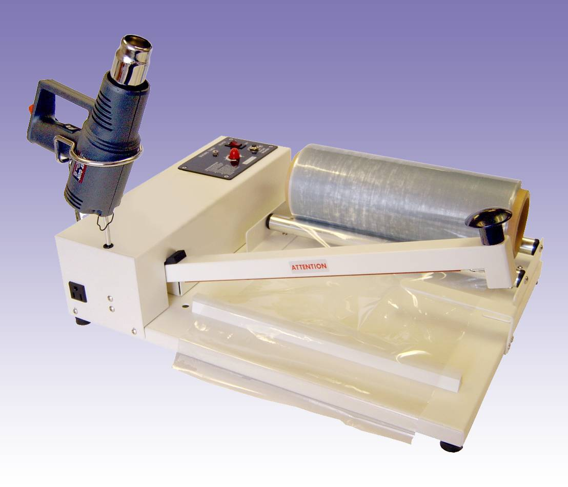 "I-BAR SHRINK FILM SYSTEM 20"" With Heat Gun & Centerfold & 18"" SR5718 shrink film"