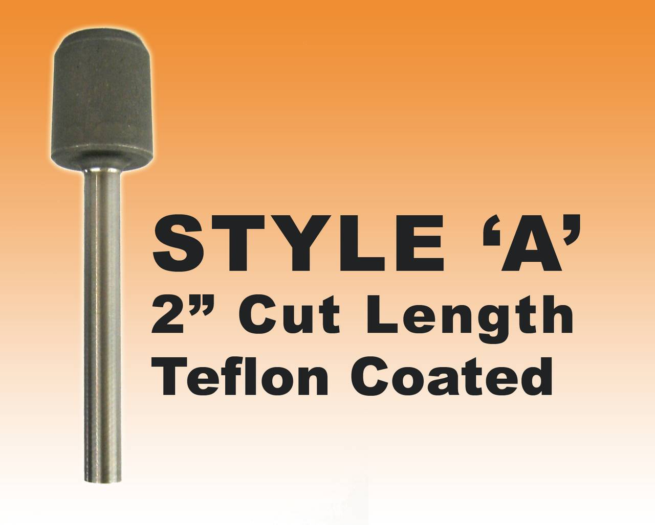"DRILL BIT- STYLE A - 1/2"" Teflon Coated Premium Steel 2"" Cut Length"